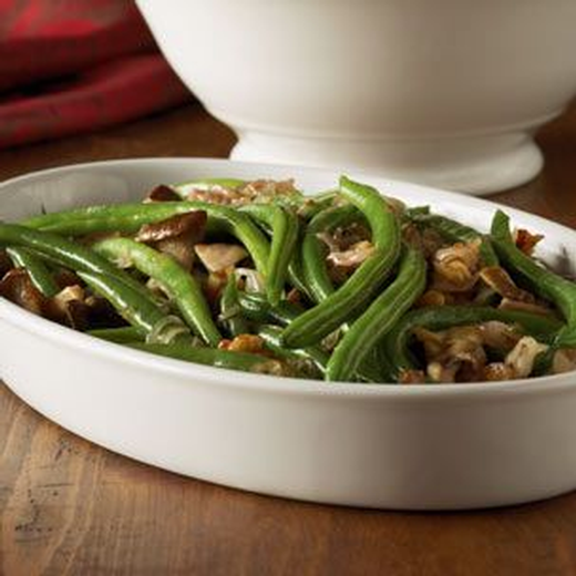 Green Beans with Brown Butter, Wild Mushrooms and Walnuts